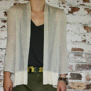 Splendid Linen Blend Lightweight Open Drape Cardi